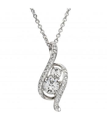 Sterling Silver Swarovski Necklace - Shanore ST17