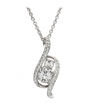 Sterling Silver Swarovski Necklace - Shanore ST17
