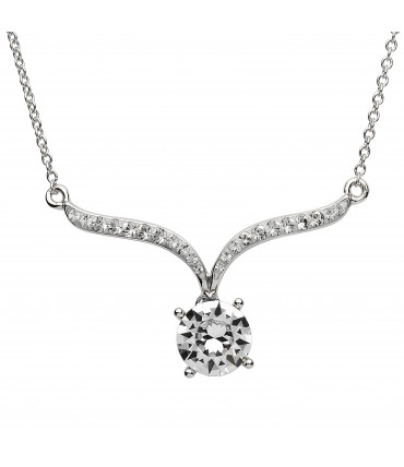 Sterling Silver Swarovski Necklace - Shanore ST18