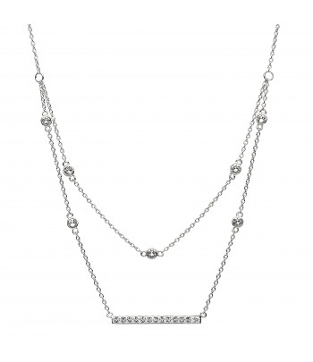 Sterling Silver Swarovski Double Necklace - Shanore ST27