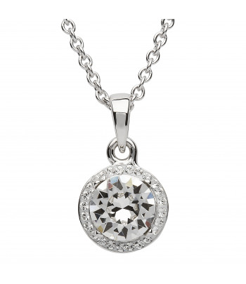 Sterling Silver Swarovski Halo Necklace - Shanore ST33