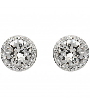 Sterling Silver Swarovski Halo Earrings - Shanore ST37
