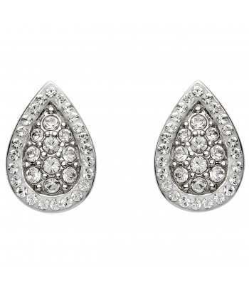 Sterling Silver Swarovski Tear Drop Earrings - Shanore ST40