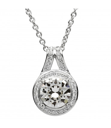 Sterling Silver Swarovski Halo Necklace - Shanore ST41