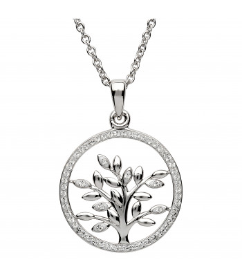 Sterling Silver Swarovski Tree Of Life Necklace - Shanore ST50