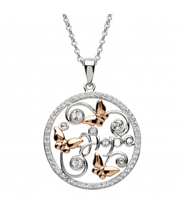 Sterling Silver Swarovski Butterfly Necklace - Shanore ST51